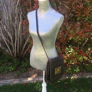 Unique vintage leather cross body bag